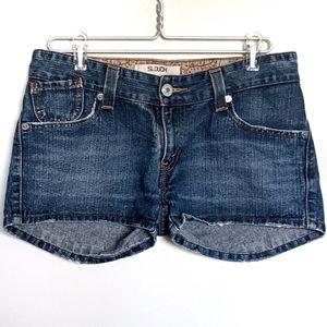 Levi's 504 shorts sz 11 denim Slouch button fly